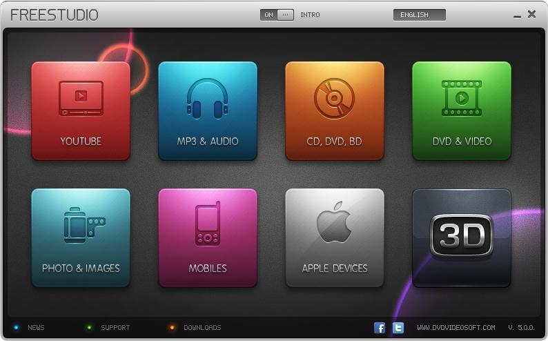 DVDVideoSoft logiciels téléchargement et traitement de vidéos