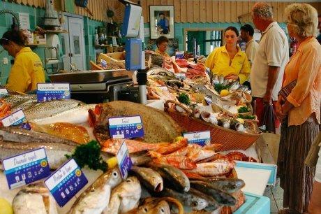 Etalage poissonnerie lucine