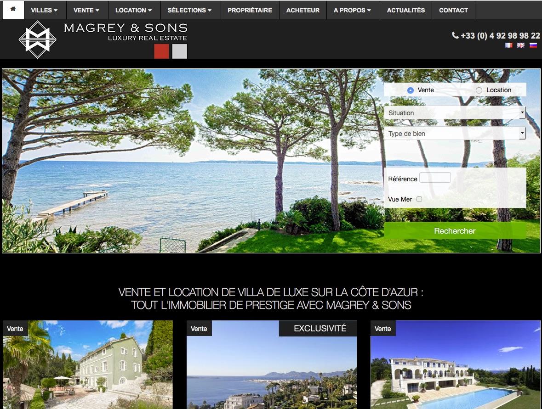 Magrey & Sons, immobilier sur la Côte d'Azur